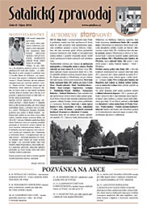 Satalický zpravodaj č. 8/2016