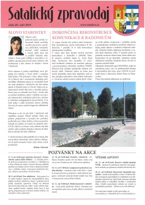 Satalický zpravodaj č. 20/2019