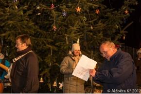 Rozsvícení vánočního stromu - 14.12.2012