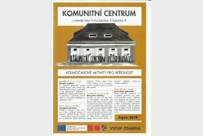 Program Komunitního centra srpen 2019